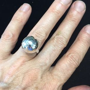 Fabulous sterling ball ring